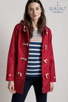 Seasalt Red Redcurrant Long Seafolly Jacket
