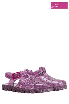 Joules Pink Multi Strap Jelly Shoe