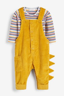 Jumbo Cord Dungarees And Bodysuit Set (0mths-2yrs)