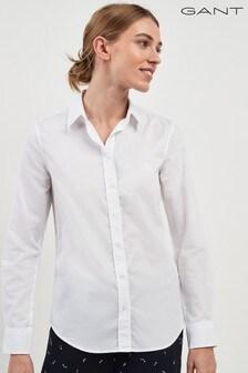 GANT White Tech Prep Oxford Shirt
