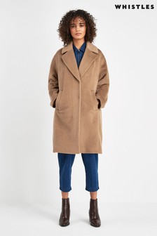 Whistles Camel Cocoon Coat