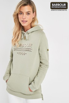 Barbour® International Pale Khaki Circuit Logo Hoody