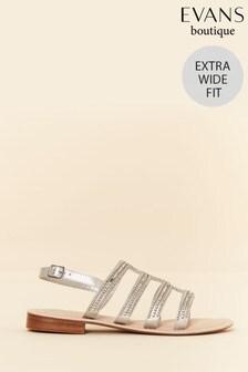 1ba20e24c3f13 Evans Extra Wide Fit Sparkly Slingback