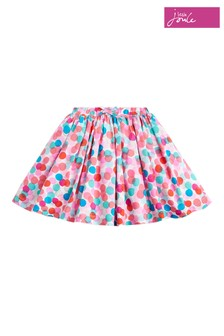 Joules Pink Ariel Woven Printed Skirt