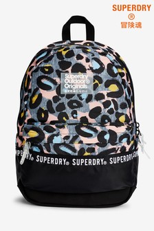 Superdry Grey Leopard Print Backpack