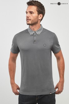 Pretty Green Charcoal Hanson Polo