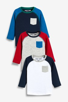 Cosy Raglan T-Shirts Three Pack (3mths-6yrs)