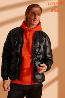 Superdry Woven Down Quilt Bomber Jacket