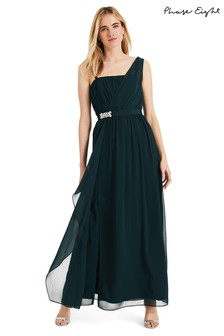 Phase Eight Green Ilenia Drape Front Dress