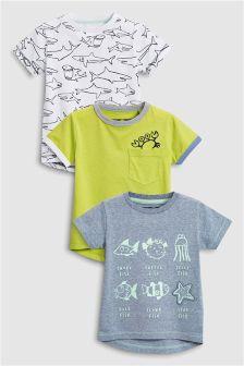 Fish T-Shirts Three Pack (3mths-6yrs)