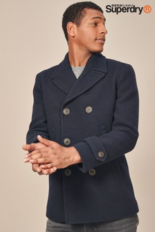 Superdry Navy Merchant Peacoat