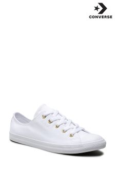 Converse White/Gold Stud Dainty