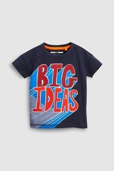 Short Sleeve Slogan T-Shirt (3mths-6yrs)