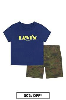 Levis Kidswear Baby Boys Blue Cotton Set