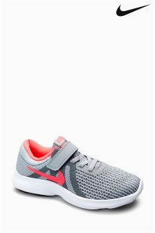 Nike Run Grey/Pink Revolution Velcro