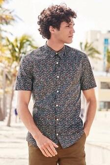 b641286bf0a Short Sleeve Smart Floral Shirt