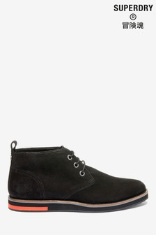 Superdry Black Low Boots