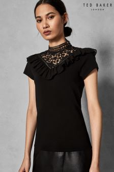 Ted Baker Black Star Lace Blouse