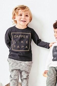 T-shirt Mum/Dad à manches longues (3 mois - 6 ans)
