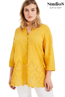Studio 8 Yellow Maeve Broderie Top