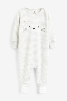 Cat Character Sleepsuit (0mths-2yrs)