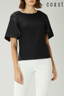 Coast Black Arlington Angel Sleeve Top