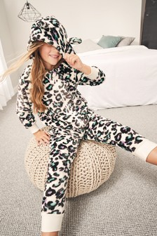 Leopard Fleece All-In-One (3-16yrs)