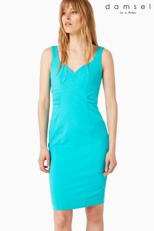 Damsel Blue Alicia Fitted Dress