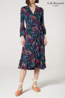 L.K.Bennett Blue Vika Dress