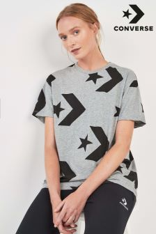 Converse Grey Star Chevron Tee