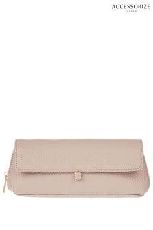 Accessorize Pink Tina Foldover Make Up Bag