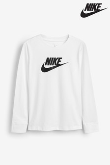 Nike White Long Sleeve T-Shirt