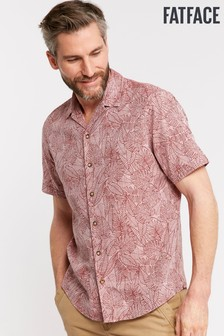 FatFace Grey Leaf Print Shirt