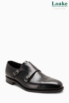 Loake Black Cannon Monk Strap Shoe