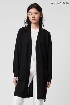 AllSaints Black Cross Cardigan