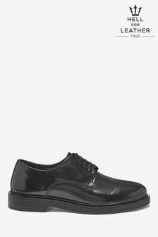Chunky Sole Hi-Shine Derby Shoes