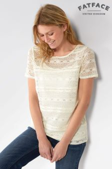 FatFace Ivory Lace 2 In 1 Top