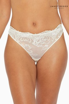 Janet Reger Rouge White Thong