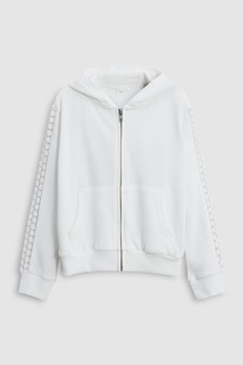 Crochet Panel Zip Through Hoody (3-16yrs)