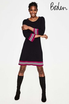Boden Black Trudy Knitted Dress