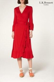 L.K.Bennett Red Vika Dress
