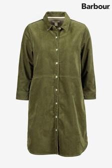 Barbour® Heritage Sage Green Corduroy Shirt Dress