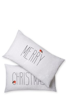 Set of 2 Merry Christmas Pillowcases