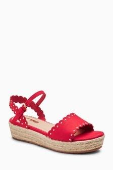 Scallop Wedge Sandals (Older)
