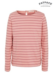 FatFace Dusky Pink Breton T-Shirt
