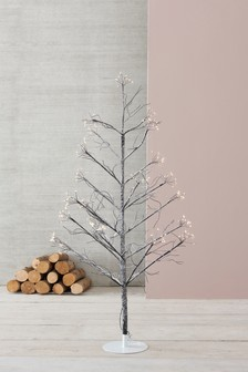 210 LED Frosted Star Burst 5ft Twig Tree