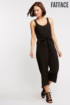 FatFace Black Eleanor Stripe Jumpsuit