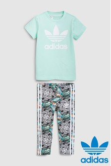 adidas Originals Zoo Print Tee And Legging Set