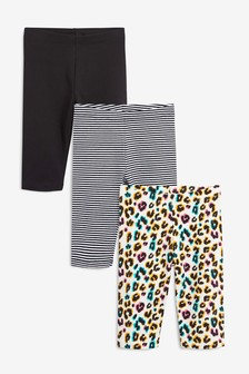 3 Pack Animal Cropped Leggings (3-16yrs)