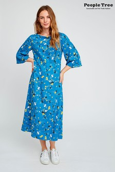 People Tree Blue Matilda Floral Dress